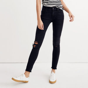 "Madewell 9"" High Rise Skinny Black Sea Jeans 28/29"